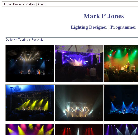 Gallery page screenshot