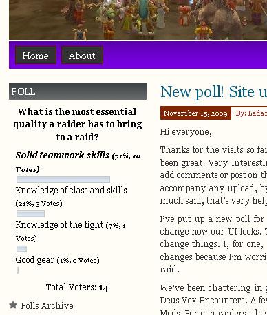 Polls widget